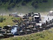 Die russische Armee marschierte im August 2008 im Georgien-Konflikt in die abtrünnige Provinz Südossetien ein. (Bild: KEYSTONE/AP/MUSA SADULAYEV)