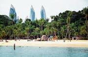 Der Sandstrand an der Siloso Beach auf der Singapur-Insel Sentosa ist kein natürlicher, sondern ein importierter Erholungsraum der Millionenmetropole. (Bild: Paul Biris/Getty)