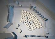 Die Tageskapelle soll mit Stühlen möbliert werden. (Bild: Visualisierung: Architekturbüro Schällibaum Wattwil)