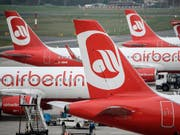 Vor einem Jahr hat die Fluggesellschaft Air Berlin Insolvenz angemeldet. (Bild: KEYSTONE/EPA/CLEMENS BILAN)