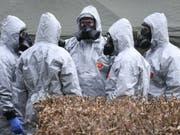 Entgiftungsaktion in einem Park im englischen Salisbury nach dem Nowitschok-Fund im März. (Bild: KEYSTONE/EPA/NEIL HALL)