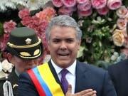 Der neue Präsident Kolumbiens, Iván Duque bei seiner Vereidigung während einer Zeremonie in Bogotá. (Bild: KEYSTONE/EPA EFE/MAURICIO DUENAS CASTANEDA)