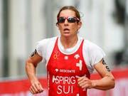 Auf Nicola Spirig ruhen einmal mehr die grossen Schweizer Medaillen-Hoffnungen im Triathlon (Bild: KEYSTONE/EPA ANP/BAS CZERWINSKI)