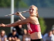 Der Speerwurf: Die Paradedisziplin der Mehrkämpferin Géraldine Ruckstuhl. (Bild: KEYSTONE/ALEXANDRA WEY)