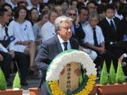 Uno-Generalsekretär Antonio Guterres bei der Gedenkfeier für die Opfer des Atombombenabwurfs vor 73 Jahren im japanischen Nagasaki. (Bild: KEYSTONE/EPA JIJI PRESS)