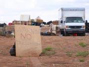 In dieser Behausung in Amalia im US-Bundesstaat New Mexico griffen die Behörden elf verwahrloste Kinder auf. (Bild: KEYSTONE/AP The Taos News/JESSE MOYA)