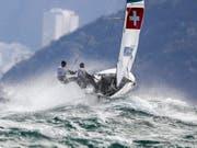 Erfolgsmeldung für die Schweizer Segler bei der WM in Aarhus (Bild: KEYSTONE/EPA/NIC BOTHMA)