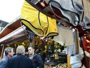Ausgehängte Unterhosen an der Schweizer Messe für Land- und Milchwirtschaft Olma in St. Gallen 2012. (Bild: KEYSTONE/WALTER BIERI)