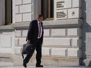 Der ehemalige KPMG-Partner Daniel Senn erschien im Juli ohne Anwalt zum Prozess am Bundesstrafgericht in Bellinzona. (Bild: KEYSTONE/TI-PRESS/ALESSANDRO CRINARI)