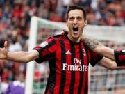 Nikola Kalinic wechselt von der AC Milan nach Spanien zu Atlético Madrid (Bild: KEYSTONE/AP/ANTONIO CALANNI)