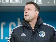 Aaraus Trainer Patrick Rahmen (hier noch beim FCL) hat Sorgen (Bild: KEYSTONE/URS FLUEELER)