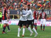 Radja Nainggolan schoss Inter in Bologna mit dem Führungstor auf die Siegesstrasse (Bild: KEYSTONE/AP ANSA/GIORGIO BENVENUTI)