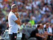 Adi Hütter in seiner neuen Umgebung rund um Eintracht Frankfurt (Bild: KEYSTONE/EPA/DANIEL MAURER)