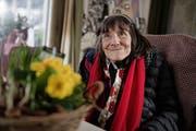 Micheline Klapproth zu Hause in Horw. (Bild: Corinne Glanzmann, 12. Januar 2017)