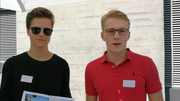 Nick (rechts in rot) und sein Kollege Max. (Bild: Rossella Blattmann)