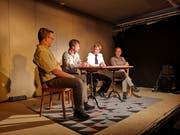 Die Mitglieder des Stadtrates hirnen, welche neue Attraktion sie in Kreuzlingen schaffen könnten. (Bild: Martina Eggenberger Lenz)