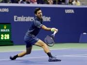 Novak Djokovic gewann am US Open in New York seinen 14. Grand-Slam-Titel (Bild: KEYSTONE/AP/JULIO CORTEZ)