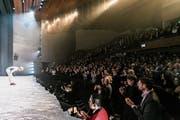 Der Applaus variiert auch nach Sparte. Im Musical - wie hier bei «Matterhorn» im Theater St. Gallen - fällt er besonders üppig aus. (Bild: Anna-Tina Eberhard)