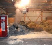 Ein Unbekannter legte am Montagmorgen auf einem Bauernhof einen Brand. (Bild: pd)