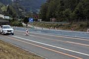 Die Baustelle bei der Autobahnausfahrt Goldau. (Archivbild Bote der Urschweiz)