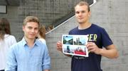 Nico (links) studiert ab Montag BWL an der HSG. (Bild: Rossella Blattmann)