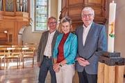 Die neuen Behördenmitglieder: Martin Breitenmoser, Sybille Blumer und Marcel Steiner (von links). (Bild: PD)