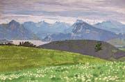 Dieses Gemälde von Anton Buob (ca. 1956–1958) zeigt den Blick vom Dietschiberg auf die Gegend des Vierwaldstättersees. (Bild: PD)