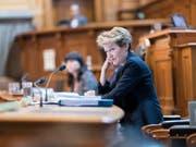 Sie behielt bei der Debatte zur Umsetzung der EU-Waffenrichtlinie im Ständerat meist die Oberhand: Justizministerin Simonetta Sommaruga. (Bild: KEYSTONE/ALESSANDRO DELLA VALLE)