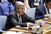Uno-Generalsekretär António Guterres. (Archivbild: Richard Drew/AP)