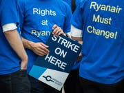 Wegen des angedrohten Streiks des Ryanair-Personals hat die Fluggesellschaft für diesen Mittwoch 150 Flüge von und nach Deutschland gestrichen. (Bild: KEYSTONE/dpa/SILAS STEIN)