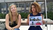 Selina aus Berlin (links) und Sara aus Solingen in der Nähe von Düsseldorf (rechts) haben sich an der HSG für den Masterstudiengang in Unternehmensführung eingeschrieben. (Bild: Rossella Blattmann)