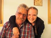 Schülerin Livia mit ihrem Vater Urs Portmann