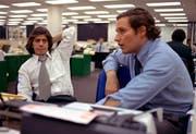 Bei der «Washington Post» wurden die jungen Journalisten Robert Woodward (rechts) und Carl Bernstein mit den Recherchen beauftragt. Später erhielten sie für ihre Watergate-Artikel den Pulitzer Preis. (Bild: AP (Washington, 7. Mai 1973))