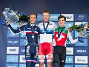 Marc Hirschi (rechts) ist die grosse Zukunftshoffnung im Schweizer Radsport (Bild: KEYSTONE/EPA SCANPIX DENMARK/HENNING BAGGER)