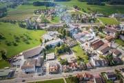 Der Arneggerbach verläuft heute grösstenteils eingedolt mitten durchs Industriequartier. (Bild: Urs Bucher (26. September 2017))