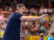 Wacker Thuns Trainer Martin Rubin muss wenige Tage vor dem Start in die Champions-League-Gruppenphase namhafte Spieler ersetzen (Bild: KEYSTONE/MELANIE DUCHENE)