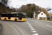 Ab Dezember verkehrt nicht nur das Postauto, sondern auch der Stadtbus Nummer 12 durch die Spisegg. (Bild: Daniel Dorrer (4. April 2016))