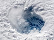 Satellitenaufnahme des Hurrikans «Florence» über dem Atlantik. (Bild: KEYSTONE/EPA ESA/ESA/NASA-ALEXANDER GERST / HANDOUT HANDOUT)