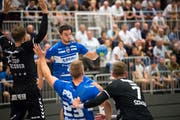 Gegen den BSV Bern glücklos: HCK-Spieler Aleksander Radovanovic. Bild: Eveline Beerkircher (Kriens, 12. September 2018)