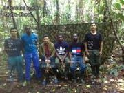 Die kolumbianische Männergruppe war Anfang August in der Region Chocó an der Grenze zu Panama entführt worden. (Bild: KEYSTONE/EPA ELN/ELN HANDOUT)