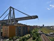 An eine neue Brücke in so kurzer Zeit glaubt in Genua so gut wie niemand. (Bild: Keystone/EPA ANSA/LUCA ZENNARO)
