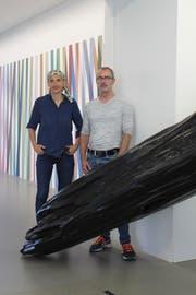 Karin Wälchli und Guido Reichlin von Chalet5 zeigen vielfältige Einblicke in ihr Schaffen. (Bild: Markus Zwyssig, Altdorf, 13. September 2018)