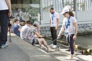 Eine Putzequippe am Clean-Up-Day 2017 in der Stadt Luzern. (Bild: PD/IG saubere Umwelt)