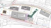 Plan ehemaliges Kantonsspital-Areal: Für die Baufeldern B, D1 und D2 wird ein Investoren- und Architekturwettbewerb ausgeschrieben.(Bild: PD)