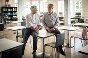 Die beiden Gründungsmitglieder Peter Fratton und Herbert Lippenberger im Gespräch im alten Zollhaus.