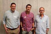 Präsident Thomas Minder begrüsste Christoph Götsch und Lukas Leutenegger neu im Vorstand der Schulleiter Thurgau. (Bild: Werner Lenzin)