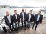 Die Spitzenfunktionäre von Swiss Ice Hockey präsentierten in Luzern ihren Saison-Ausblick (Bild: KEYSTONE/URS FLUEELER)