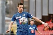 Tomi Juric trainiert nach dem gescheiterten Transfer zu Basel erstmals in dieser Saison mit dem FC Luzern. (Bild Martin Meienberger/Freshfocus (Sion, 4. März 2018))