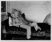 Nachdenklich. Mark Twain einmal nicht beim Schreiben, sondern in Gedanken versunken. (Bild: Getty)
