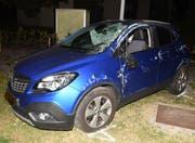 Eines der Unfallautos. (Bild: Luzerner Polizei)